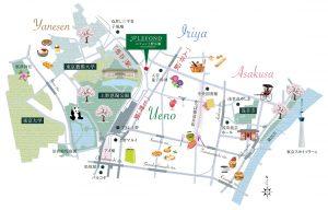 上野浅草地図(ルフォン上野公園ザ・レジデンス)