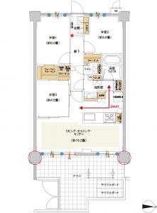 ミオカステーロ横濱中山Ⅱ 間取り
