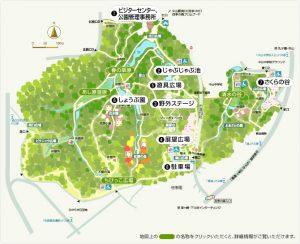 県立四季の森公園マップ