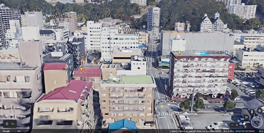 北側の眺望 出典:Google Earth