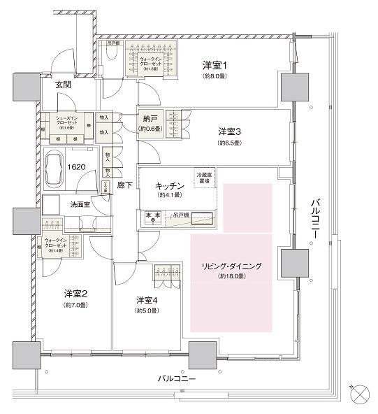 モデルルームの間取り② S-110タイプ 出典:公式HP