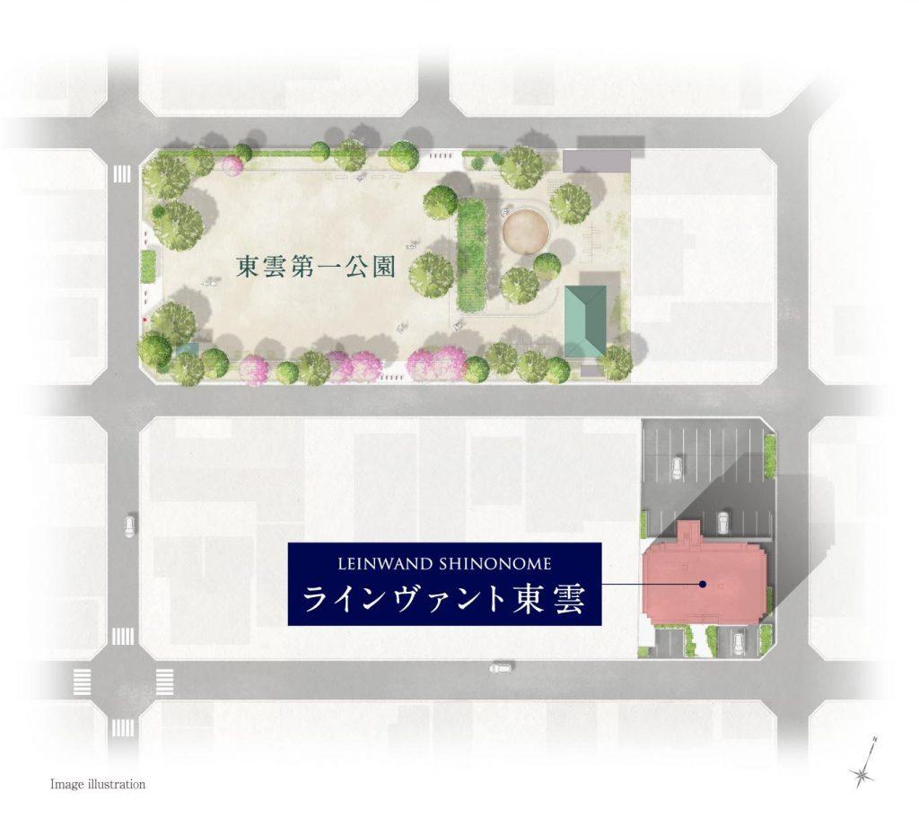 建物周辺図 出典:公式HP