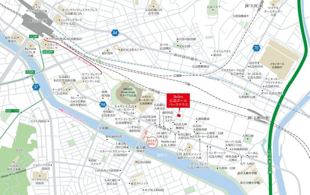 建物周辺広域図 出典:公式HP