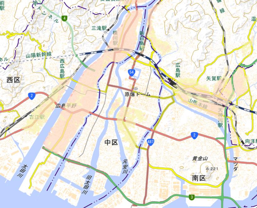 洪水の浸水想定区域 出典:広島市防災情報マップ