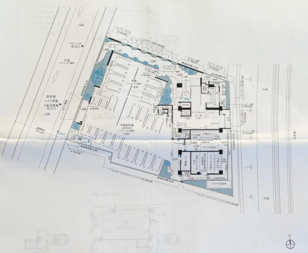 建物配置図 出典:物件資料