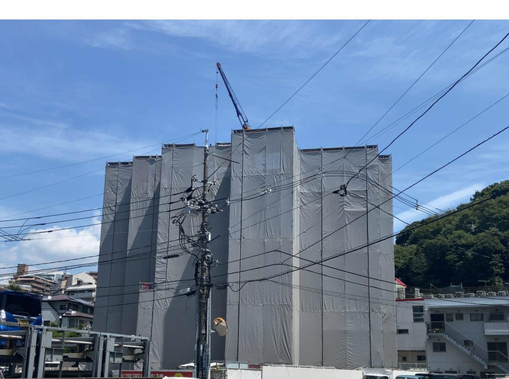 建築中のヴェルディ牛田新町