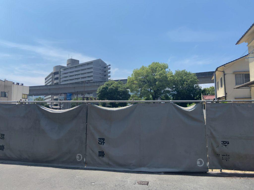 建築予定地東側